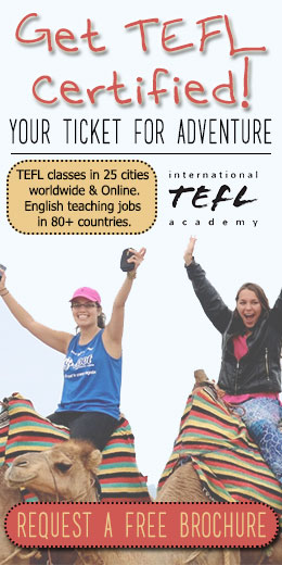 Get a TEFL Certification and earn more teaching.
